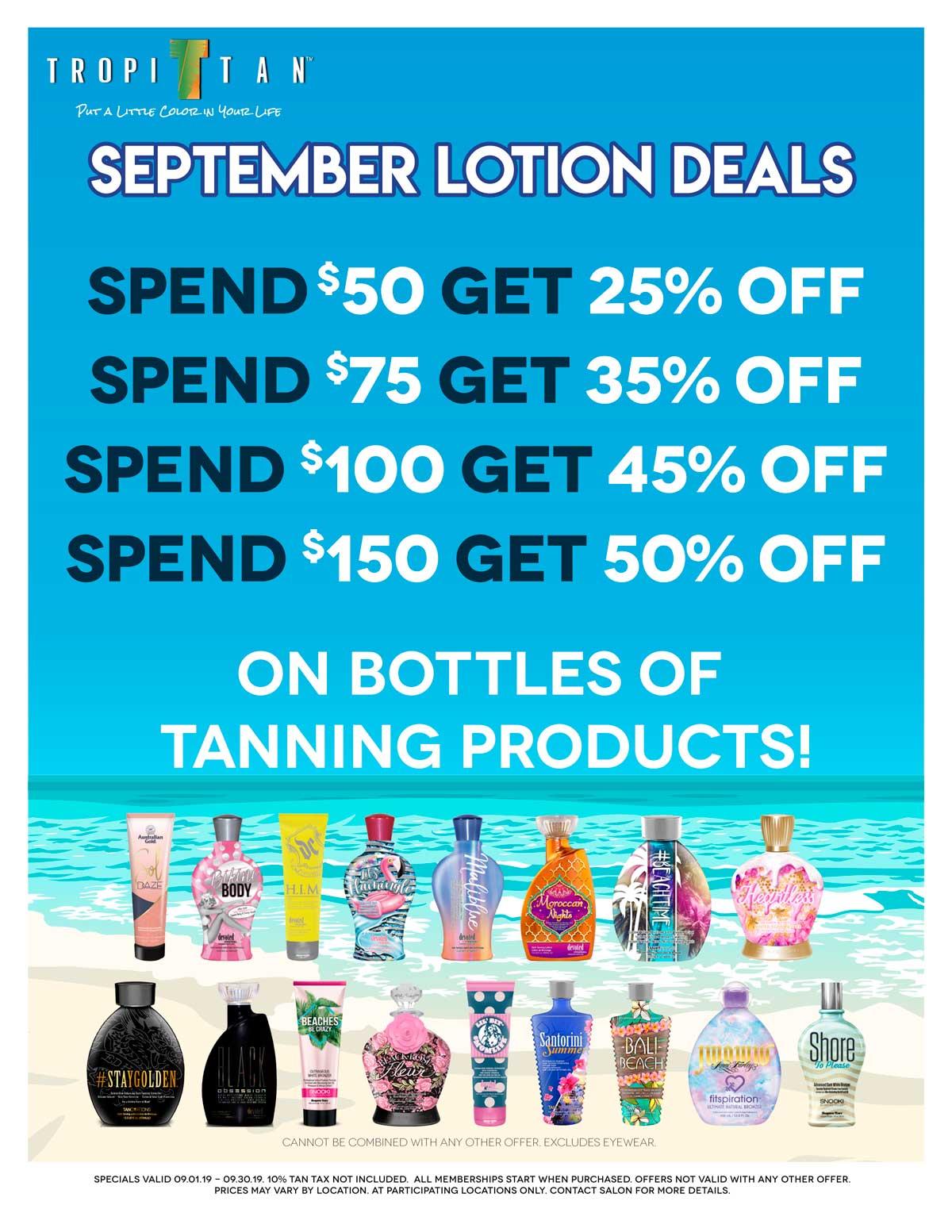 Current Specials – Tropi Tan Tanning Salons